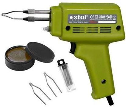 Obrázok pre výrobcu Spájkovacia pištoľ Extol Craft 100W +kufor 9921