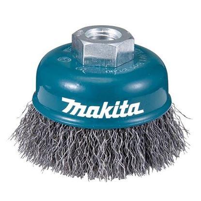 Obrázok pre výrobcu Kefa z oceľového drôtu Makita  - vlnitý drôt M14