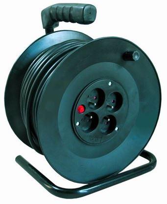 Obrázok pre výrobcu Predlžovací kábel na bubne 4 zásuvky