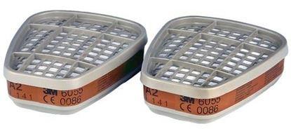 Obrázok pre výrobcu Filter 3M uhlíkový 6055 na organické plyny a pary A2