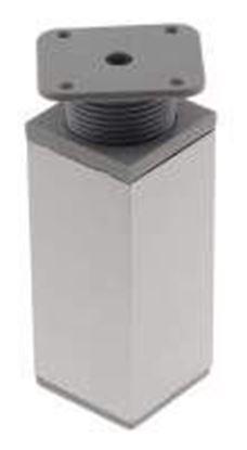 Obrázok pre výrobcu Plastová štvorcová noha PVC/AL 38 x 38