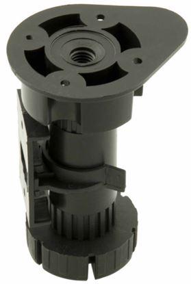 Obrázok pre výrobcu Rektifikačná noha PVC čierna s klipom