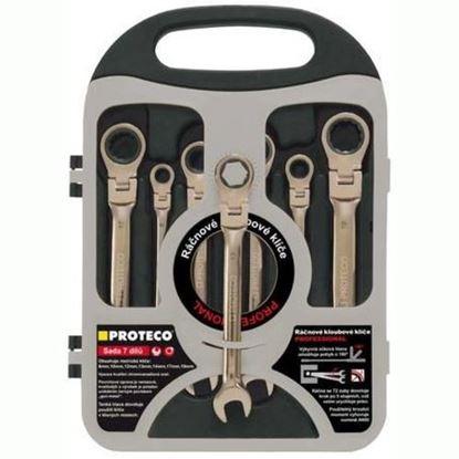 Obrázok pre výrobcu Sada račnových kľúčov s kĺbom 7 dielna 8-19mm 42.18-343-772