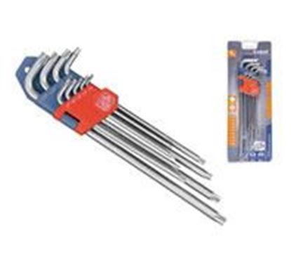 Obrázok pre výrobcu EXTOL PREMIUM L-kľúč, sada 9ks, TORX predĺžené 8819412
