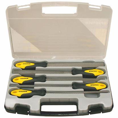 Obrázok pre výrobcu Proteco Sada rašplí v plastovom kufri 5-dielna 10.14-9801-2