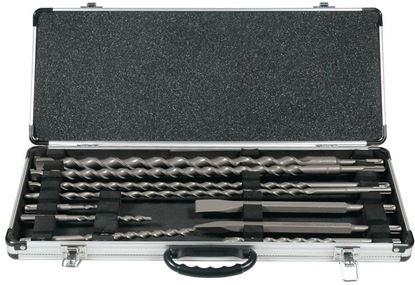 Obrázok pre výrobcu Sada vrtákov a sekáčov Makita SDSplus 10-dl. D19174