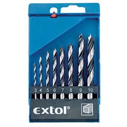 Obrázok pre výrobcu Sada vrtákov do dreva Extol 8 dielna 3-10mm 1142