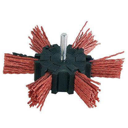 Obrázok pre výrobcu Kotúč brúsny vlnitý so stopkou 100mm, nylonový drôt, Extol 17060