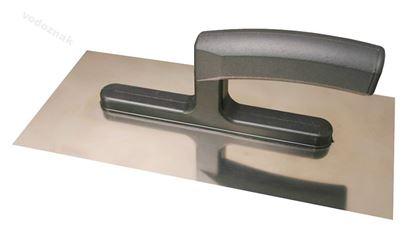 Obrázok pre výrobcu Hladítko nerezové hladké 270x125 mm - plastová rukojeť
