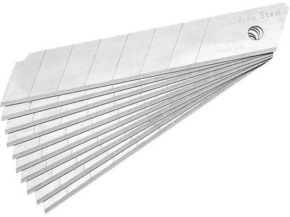 Obrázok pre výrobcu Brity (čepele) do noža 18mm rovné antikor 10 kusov Extol 4780001
