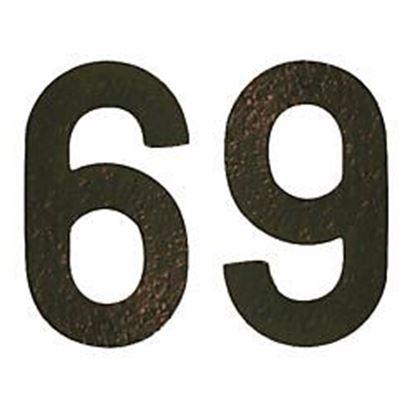 Obrázok pre výrobcu Číslo domu plastové hnedé 15 cm
