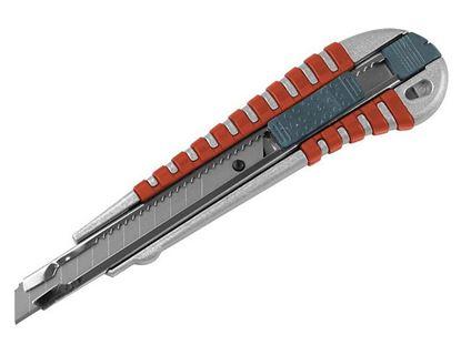 Obrázok pre výrobcu Orezávací nôž s kovovou výstužou a tlačítkom Extol 18mm 8855012