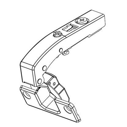 Obrázok pre výrobcu Záves na dvierka FGV 35 mm 90 ° rovný + podložka