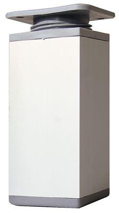 Obrázok pre výrobcu Plastová štvorcová noha PVC/AL 80 x 80