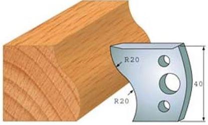 Obrázok pre výrobcu Profilový nôž 40 mm F026-009 /  obmedzovač F027-009