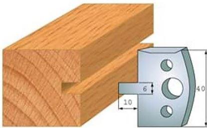 Obrázok pre výrobcu Profilový nôž 40 mm F026-016 / obmedzovač F027-016