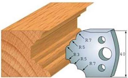 Obrázok pre výrobcu Profilový nôž 40 mm F026-021 / obmedzovač F027-021