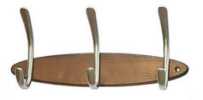 Obrázok pre výrobcu Vešiak 3- radový WU-8 drevo/kov satina 544701