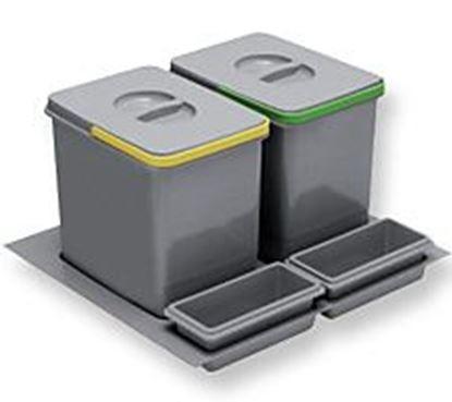 Obrázok pre výrobcu Odpadkový kôš MULTINO 600 2*15L