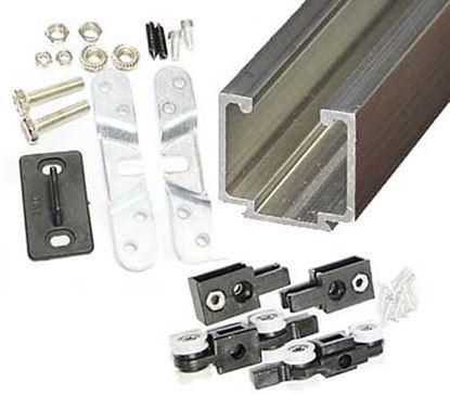Obrázok pre výrobcu Kovanie na posuvné dvere EKO 0400 80kg komplet
