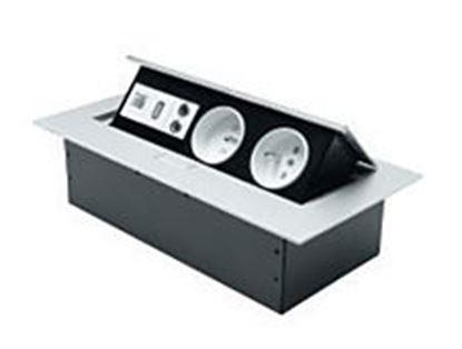 Obrázok pre výrobcu Kancelárska predlžená zásuvka 5390 -8 + USB, AUDIO, SIEŤ