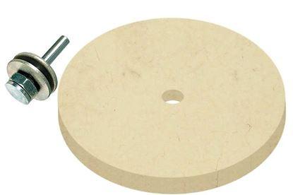 Obrázok pre výrobcu Leštiaci kotúč MAGG filcové so stopkou 100 x 12 mm BL9340100