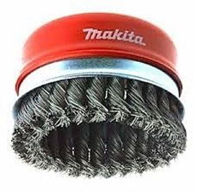 Obrázok pre výrobcu Misková kefa z oceľového drôtu - spletaný drôt Makita P-04472