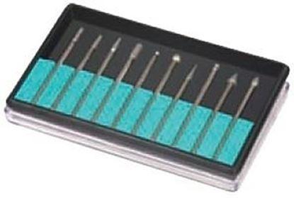 Obrázok pre výrobcu Sada diamantových fréz Silverline 10 kusov, S2,35 mm, 125-661586