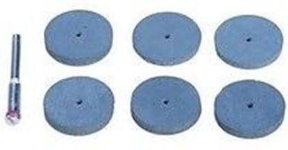 Obrázok pre výrobcu Sada gumových kotúčov na leštenie 7 kusov Silverline S3,1mm, 125-457002
