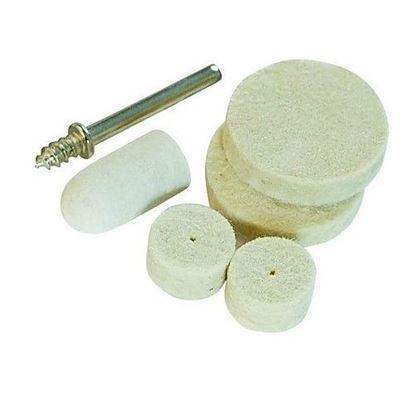 Obrázok pre výrobcu Sada plstených kotúčov na leštenie 6 kusov Silverline S3,1mm, 125-427691