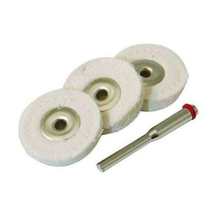 Obrázok pre výrobcu Sada plstených kotúčov na leštenie 4 kusy, Silverline S3,1mm, 125-656616
