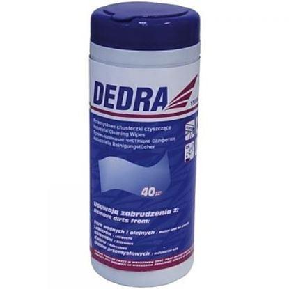 Obrázok pre výrobcu Priemyselné čistiace obrúsky DEDRA 40 kusov 1500A