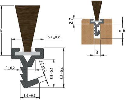 Obrázok pre výrobcu Zafrézovatelna prahová štetina 2,15 metra