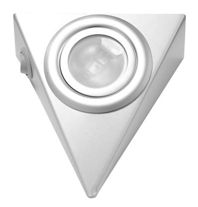 Obrázok pre výrobcu Bodové trojuholníkové svetlo aluminium s vypínačom