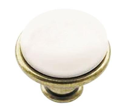 Obrázok pre výrobcu Porcelánová úchytka knopok DC DG19 AB-MLK-0