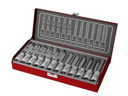 Obrázok pre výrobcu Fortum Sada zástrčných imbusových kľúčov 18-dielna 4700008