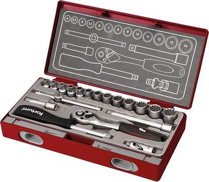 Obrázok pre výrobcu Fortum Sada nástrčných kľúčov Multi-lock 19-dielna 4700031