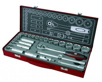 Obrázok pre výrobcu Fortum Súprava nástrčných kľúčov 4700001 - 29 dielov