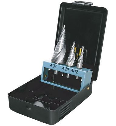 Obrázok pre výrobcu Sada stupňovitých vrtákov PROTECO HSS 3dl. 90.42-ST89