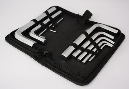 Obrázok pre výrobcu Sada imbusových kľučov v púzdre 3-17 mm
