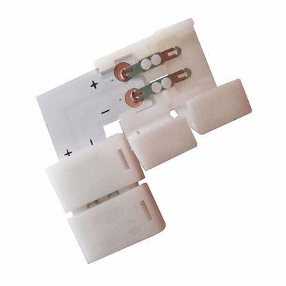 Obrázok pre výrobcu Rohový spojovací konektor na LED pásiky 8mm WM81