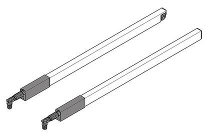 Obrázok pre výrobcu Pozdĺžny reling ľavý/pravý BIELY