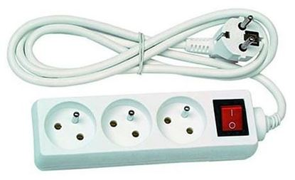 Obrázok pre výrobcu Predlžovací kábel viac zásuvkový s vypínačom