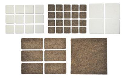 Obrázok pre výrobcu Filc pod nábytok štvorcový