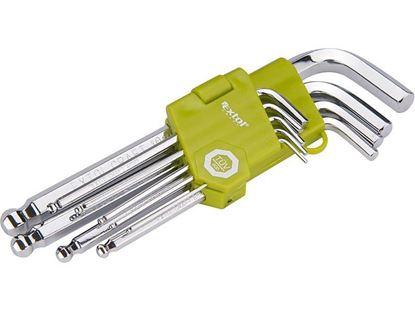Obrázok pre výrobcu Sada imbusových kľúčov Extol 9dl. 66001