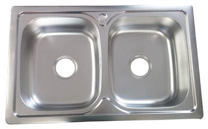 Obrázok pre výrobcu Dvojdrez nerezový BE8050E 800 x 500 mm