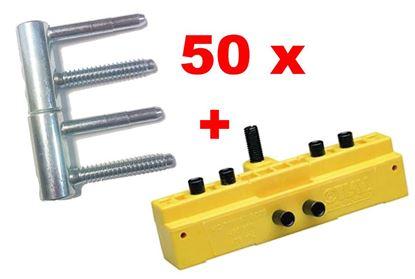 Obrázok pre výrobcu Záves OTLAV 3D 16mm CG495+CF495 160H502 + šablóna OTLAV 14/16 MC701 - 160G035