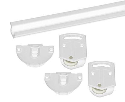 Obrázok pre výrobcu Plastové posuvné kovanie unipos biele
