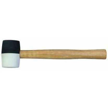 Obrázok pre výrobcu Gumené kladivo TECO čierno-biele