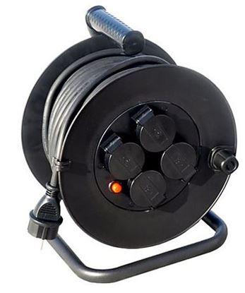 Obrázok pre výrobcu Solight Predlžovací kábel na bubne 4 zásuvky, gumový